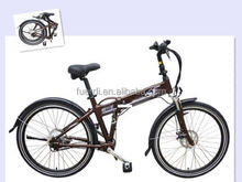 "26"" chainless aluminium e cycle electric bicycle with rear motor"
