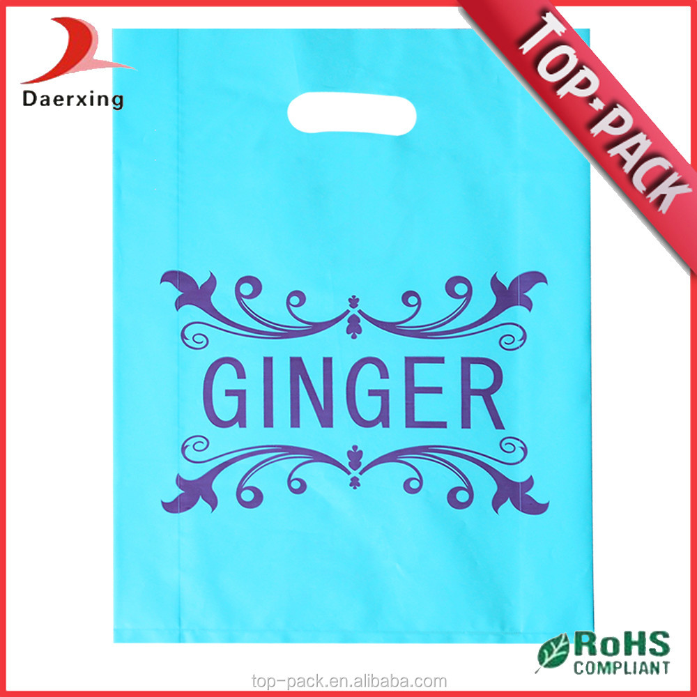 customized colorful die cut packing garments plastic