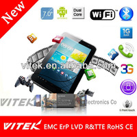 Best selling 7 inch Dual Core Android 3G Phone Tablet 3mp camera