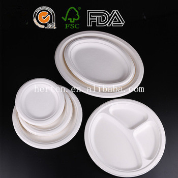 Good price biodegradable disposable tableware wholesale 7inch for sale