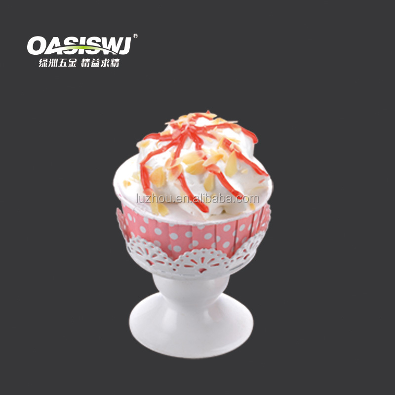 2016 best seller white single cupcake stand for sale