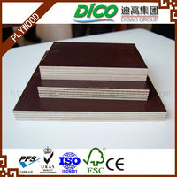 Combi Core Melamine Glue Brown Film Faced Marine Plywood for Cement Formwork