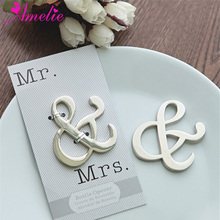 Wholesale Wedding Party Souvenirs Favors Mr and Mrs Ampersand Bottle Opener Birthday Party Present Guest Gift Openers