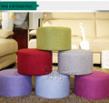 New products cheap wooden round ottoman stool