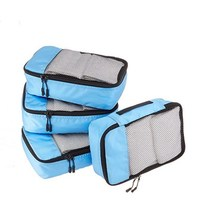 Hot selling 4pcs wholesale travelwise packing cubes travel clothes organiser luggage organiser