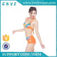 China manufacturer fashion ladies reversible two piece bathing suit
