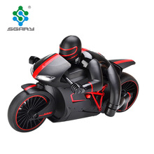 High Speed 2.4G 4CH lighting up RC motorcycle toys electric remote control car for children