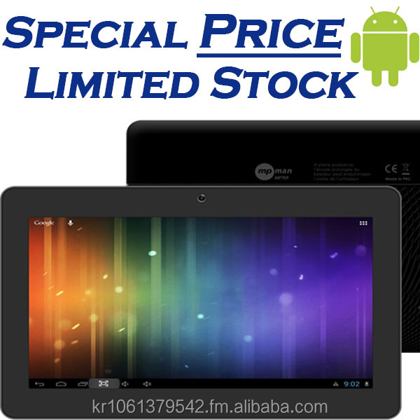 [Special Price] 7 inch Android Tablet PC with Gift Box, 4GB + 512MB, WVGA, TN, Camera, Great Design, Multi-touch