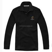 Men's Formal Cotton Black Polo Shirts Embroidery