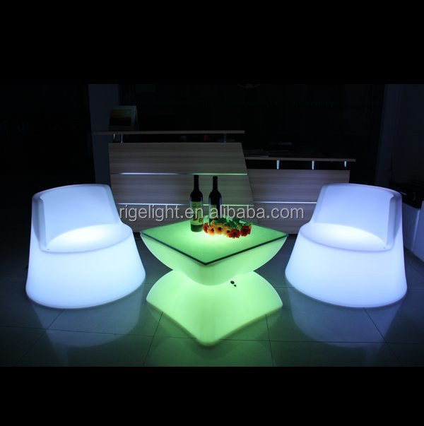 wireless battery remote bar LED Shining Double Table