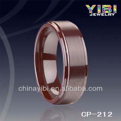 Stepped edges Ceramic Ring, Matte finished ring from yibi jewelry