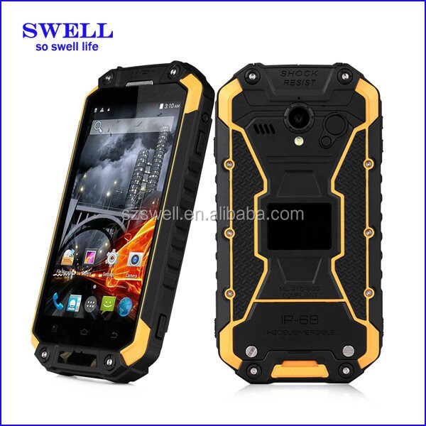 100 raw test X8S rugged phone MTK6582 Quad Core IP68 Walkie Talkie RFID NFC phone transparente del telefono celular