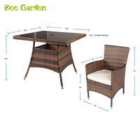 Modern Rattan Wicker Restaurant Outdoor Rattan Furniture