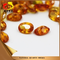 Best sale bottom price oval shaped facet cut imitation yellow sapphire