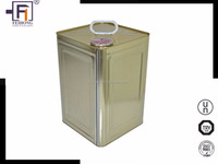 UN approved factory produced professional Square corrosion resistance 5 Gallon metal tin drum with lock ring lid