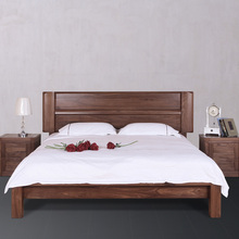 Best Selling Solid furniture wooden double bed