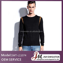 OEM knitting sweater fashionable knitting patterns for men bulky sweater knits
