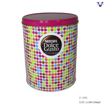 New products round empty coffee tin can