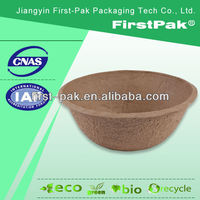 big round moulded fiber flowers nursery flower peat basin pots