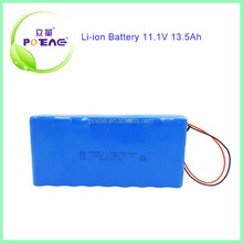 9 years factory sale 18650 13.5ah li-ion type and 12v power tool battery