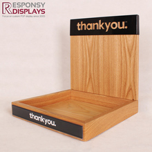 Countertop Wood Shampoo and Conditioner Hand Cream Cosmetic Display Stand