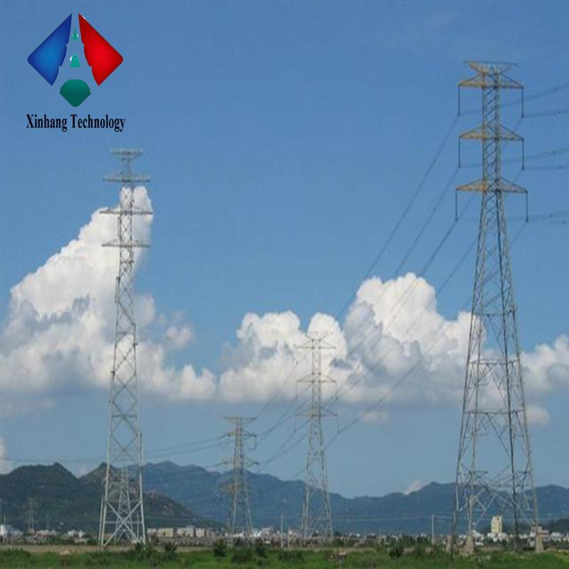 self supporting 33 kv distribution line tower 132kv double circuit towers galvanized steel guy wire lattice mast