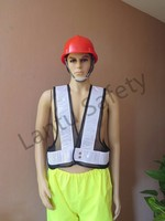 black mesh safety vest with PVC reflective tapes