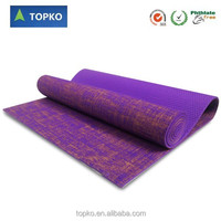 Wholesale custom made 3mm 6mm 10mm closed cell jute fiber yoga mat