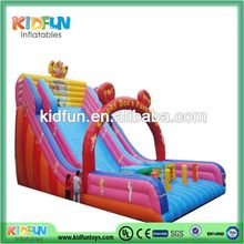 High quality classical indoor kids inflatable slide with pool