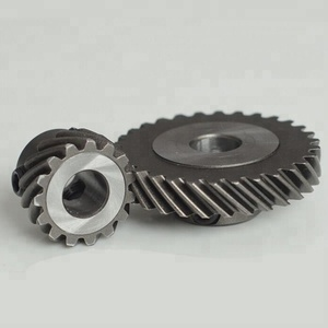Set screw holes helical gear wheel