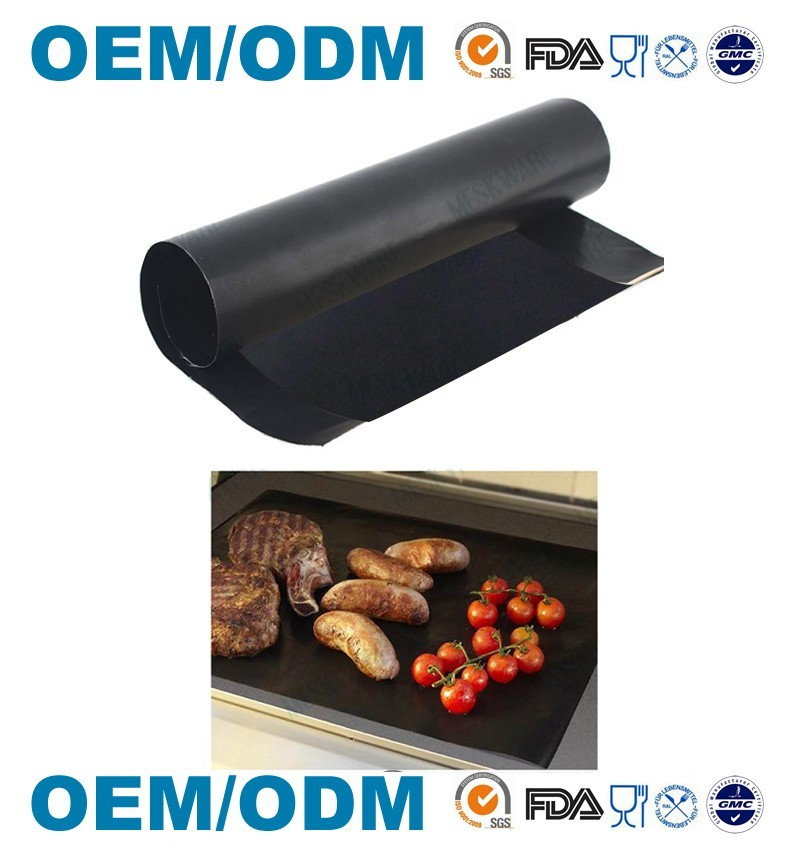 Factory Supply Black Non-stick BBQ Grill Mat