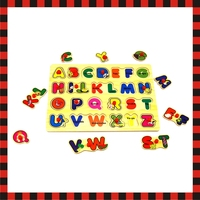 Wooden learning animal alphabet Toy Geometric baby kid Sorting Board
