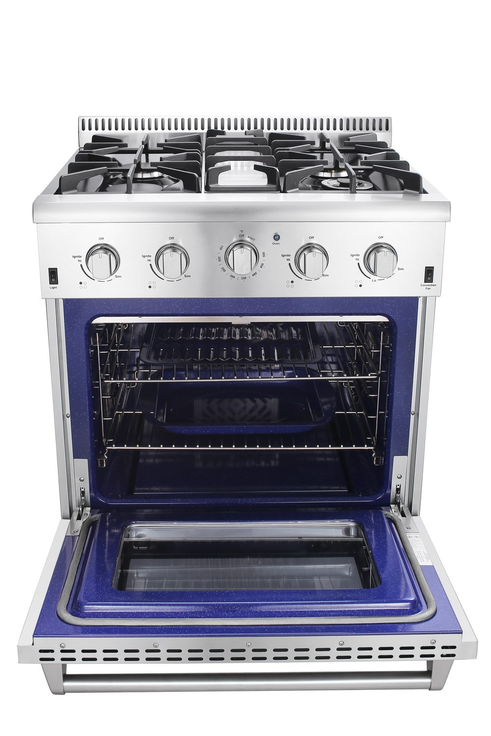 professional 30 inch residential gas cooking range with oven view gas cooking range hyxion. Black Bedroom Furniture Sets. Home Design Ideas