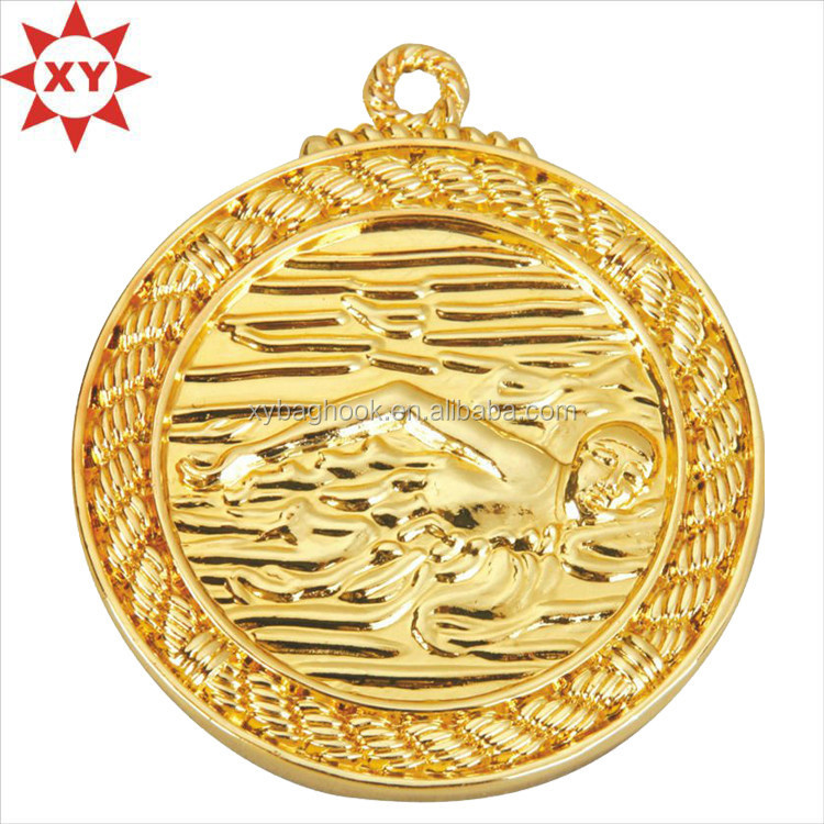 Zinc alloy casting sport medals swimming for sport events