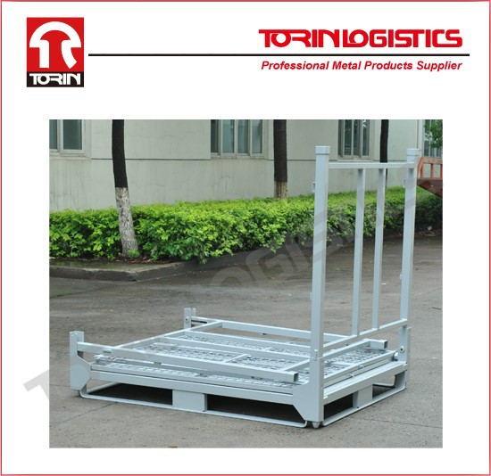 Equipment Metal Crate Foldable Galvanize Steel Storage Stackable Container (L1400*1150mm/OEM)