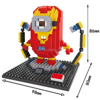 HSANHE Figurines Ironman and Minions Toy building blocks For Girl Toddlers