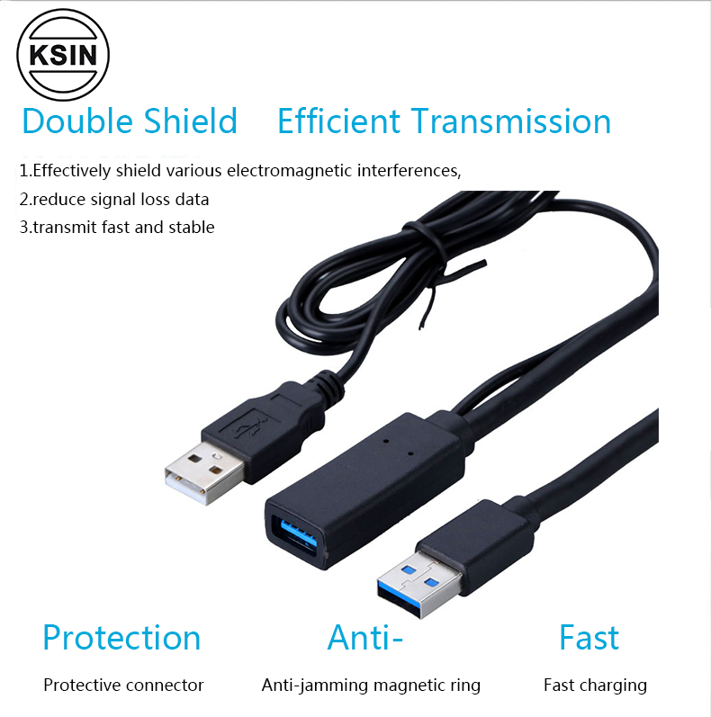 Super speed USB 3. 0 AM/AF usb 3.0 extension cable with built-in chipset