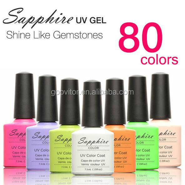 7.3 ml Brand Sapphire Diamond Color UV Nail <strong>Gel</strong> 80 Colors Glitter Vernis Couleur UV Polish <strong>Gel</strong>