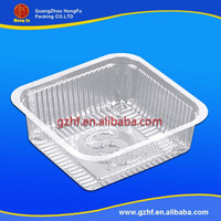 pp/pvc/pet plastic blister material food tray with 4 compartments
