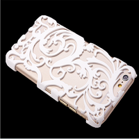 Art Hollow Out Aluminum Flora Hard Pc Case For Samsung Galaxy S6 Edge,For Iphone 6/6 Plus/5 5s