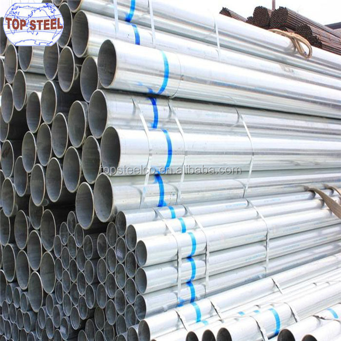 Bs1387 class b thin wall galvanized steel 6 inch pipe of properties