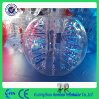Blue fluorescent light human bubble ball, zorb ball for bowling high quality bubble ball soccer