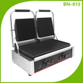 Commercial Restaurant Equipment Panini Grill Double Grooved Top Plates BN-813
