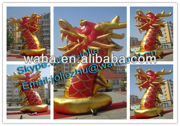 advertising inflatable dragon model/ inflatable dragon replica for advertising/ giant inflatable dragon for event