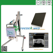 High image quality YSX040-C DR system 4kw 70mA portable mobile veterinary digital x-ray equipment