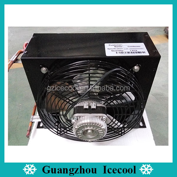 1/2HP Refrigeration Air Cooled Copper Tube Condenser with Fan Motor