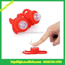 Black Bicycle LED Silicone Warning Rear Light / Front Lights