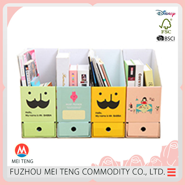 Open front style book canvas durable box storage