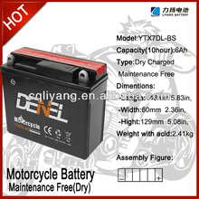 YTX7-BS Motorcycle battery 12v 7ah