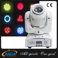2016 New led Mini 10w Led Source Spot Moving Head/Led gobo moving head with white case